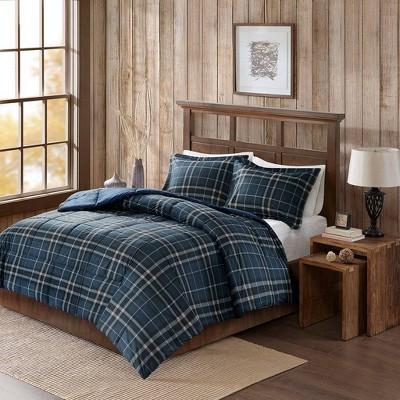 King Flint CozySpun Down Alternative Comforter Mini Set - Navy