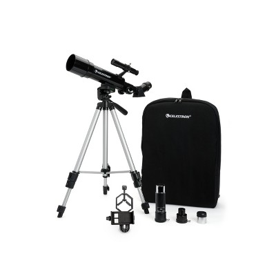 Celestron Travel Scope 50 Portable Telescope with Basic Smartphone Adapter - Black