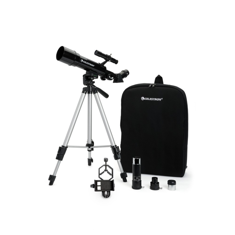 Image of Celestron Travel Scope Portable Telescope with Basic Smartphone Adapter - Black