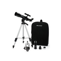 Celestron Travel Scope Portable Telescope with Basic Smartphone Adapter - Black