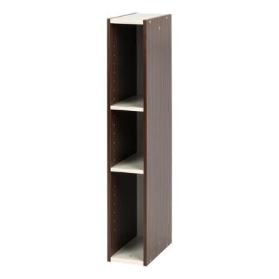 IRIS Slim Storage Shelf Walnut Brown
