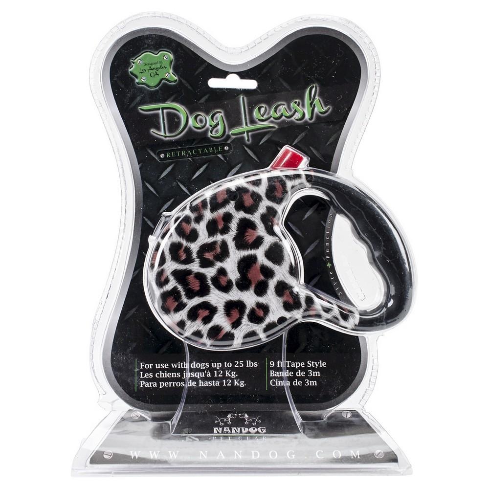Nandog Retractable Leash - Snow Leopard