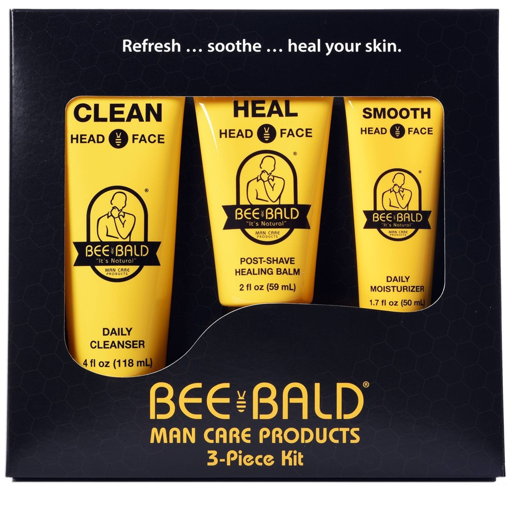Image of Bee Bald Shaving Travel Kit - 3pc