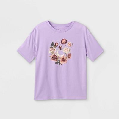 Girls' Oversized Short Sleeve Graphic T-Shirt - art class™