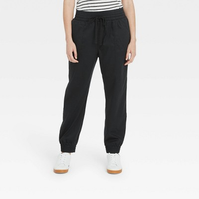 Women's High-Rise Woven Ankle Jogger Pants - A New Day™