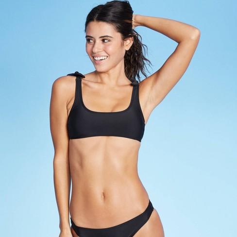 Juniors' Shoulder Tie Bralette Bikini Top - Xhilaration™ - image 1 of 4