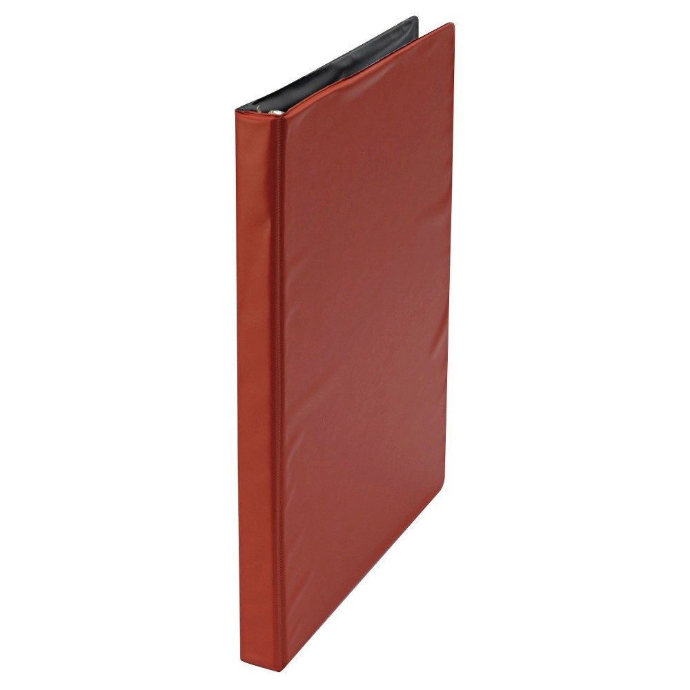Universal Economy Non-View Round Ring Binder, 1.5 - Red