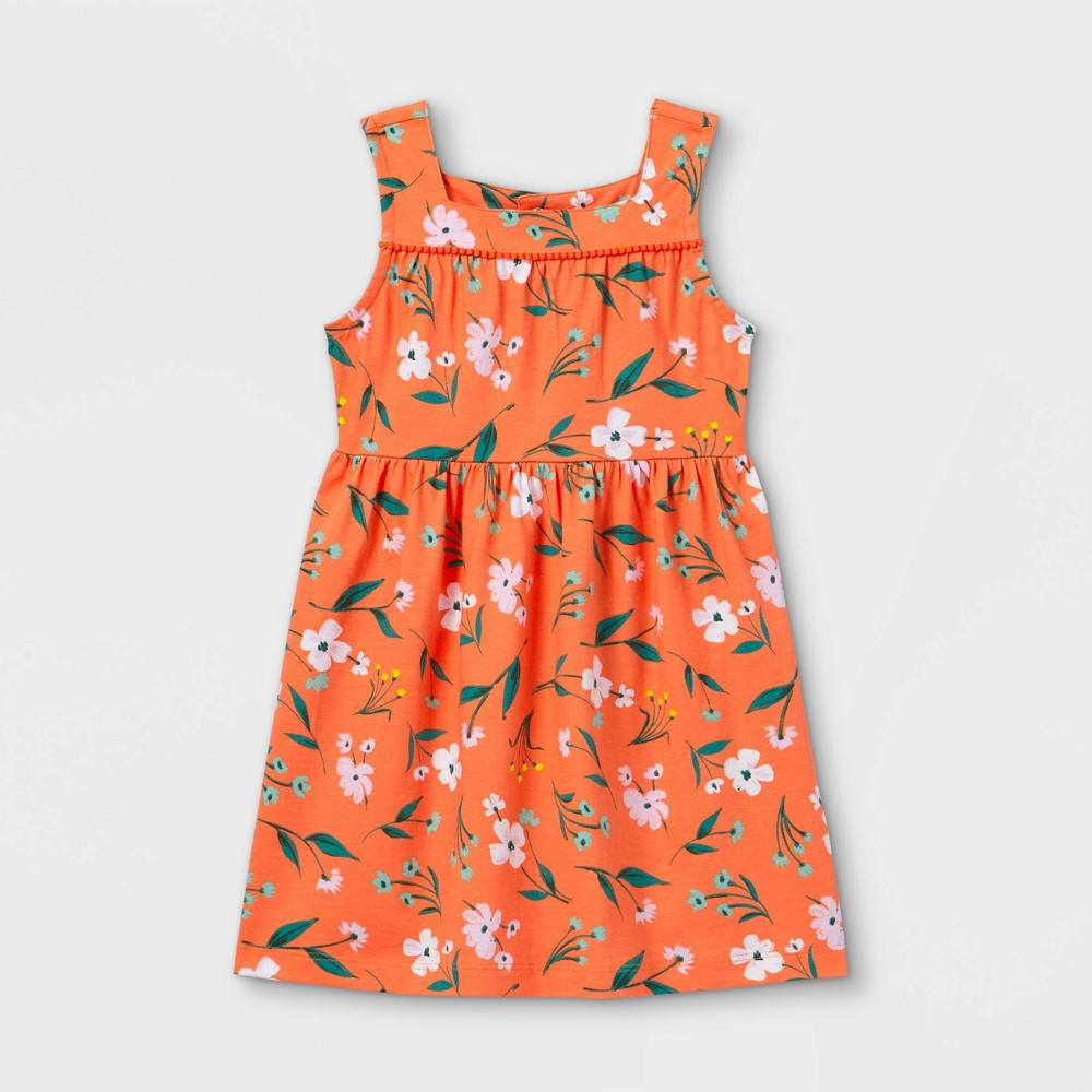 Toddler Girls 39 Floral Tank Dress Just One You 174 Made By Carter 39 S Coral 5t