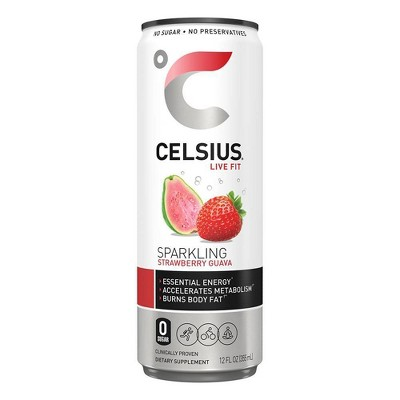 Celsius Sparkling Strawberry Guava Energy Drink - 12 fl oz Can