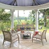 Teak Zuma Patio Lounge Chair Gray - Cambridge Casual - image 4 of 4