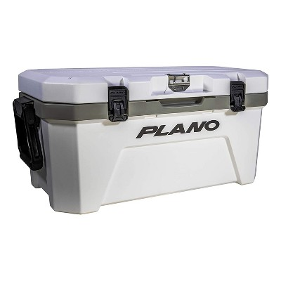 Plano Frost 32 Quart Heavy Duty Cooler with Built In Bottle Opener, Cutting Board, and Removable Dry Basket for Camping, Tailgating, Outdoor Events