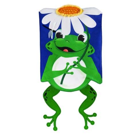 Evergreen Flag Shaped Frog House Burlap Flag Target