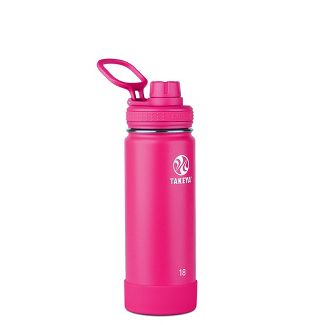 Takeya 18oz Actives Insulated Stainless Steel Water Bottle with Spout Lid - Asteroid Pink