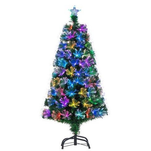 Christmas Tree Colors.4ft Sterling Tree Company Color Changing Fiber Optic Pre Lit Led Slim Artificial Christmas Tree