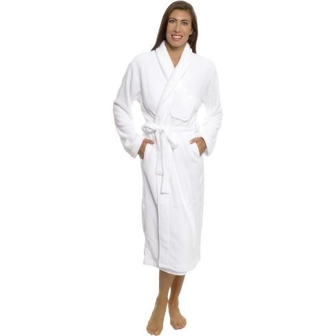Silver Lilly - Women's Wrap Style Plush Luxury Bathrobe - Black, Small/Medium - image 1 of 4
