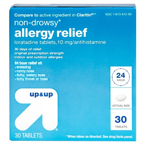 Loratadine Allergy Relief Tablets - 30ct - Up&Up™ (Compare to active ingredient in Claritin) - image 1 of 5
