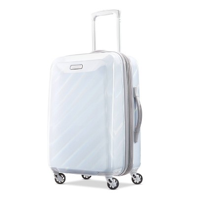 American Tourister 21'' Moonlight Hardside Spinner Suitcase - Iridescent White
