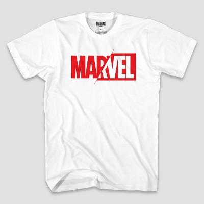 Men's Short Sleeve Marvel Graphic T-Shirt - White M