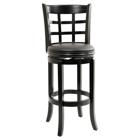"29"" Kyoto Swivel Barstool Black - Boraam - image 1 of 1"