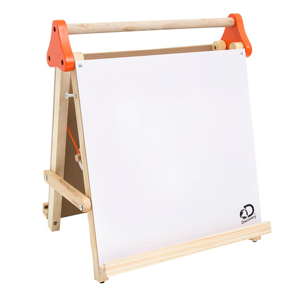 Image of Discovery Kids Tabletop Dry Erase and Chalk Easel