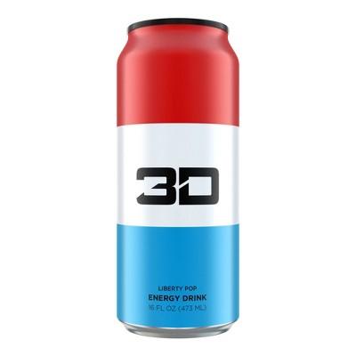 3D Liberty Pop Energy Drink - 16 fl oz Can