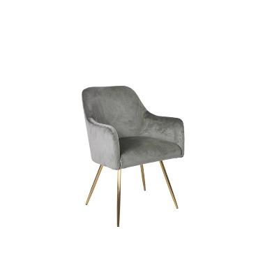 Evie Accent Chair Velvet Gray - HomePop