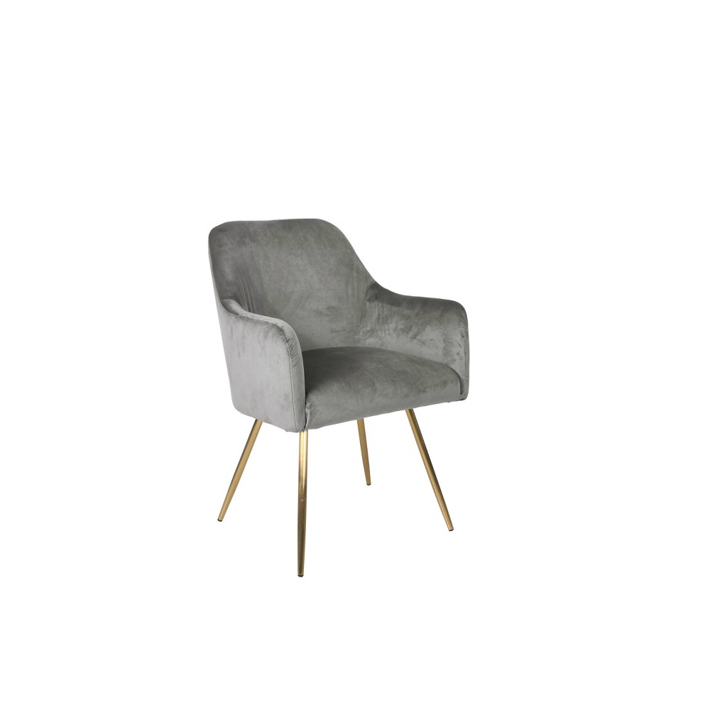 Evie Accent Chair Velvet Gray - HomePop was $179.99 now $134.99 (25.0% off)
