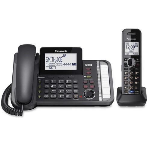 Panasonic Link2Cell KX-TG9581B DECT 6.0 Cordless Phone - Black - 2 x Phone Line - Answering Machine - image 1 of 1