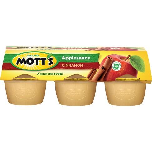 Mott's Cinnamon Applesauce - 6ct/4oz Cups - image 1 of 4