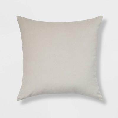 Cotton Velvet Square Throw Pillow Light Gray - Room Essentials™