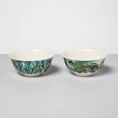 9oz 2pk Melamine Jungle Leaves Mini Bowls - Opalhouse™
