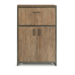 Barnside Metro Bar Cabinet Gray - Home Styles