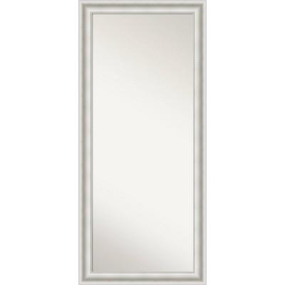 Parlor Framed Full Length Floor Leaner Mirror White - Amanti Art