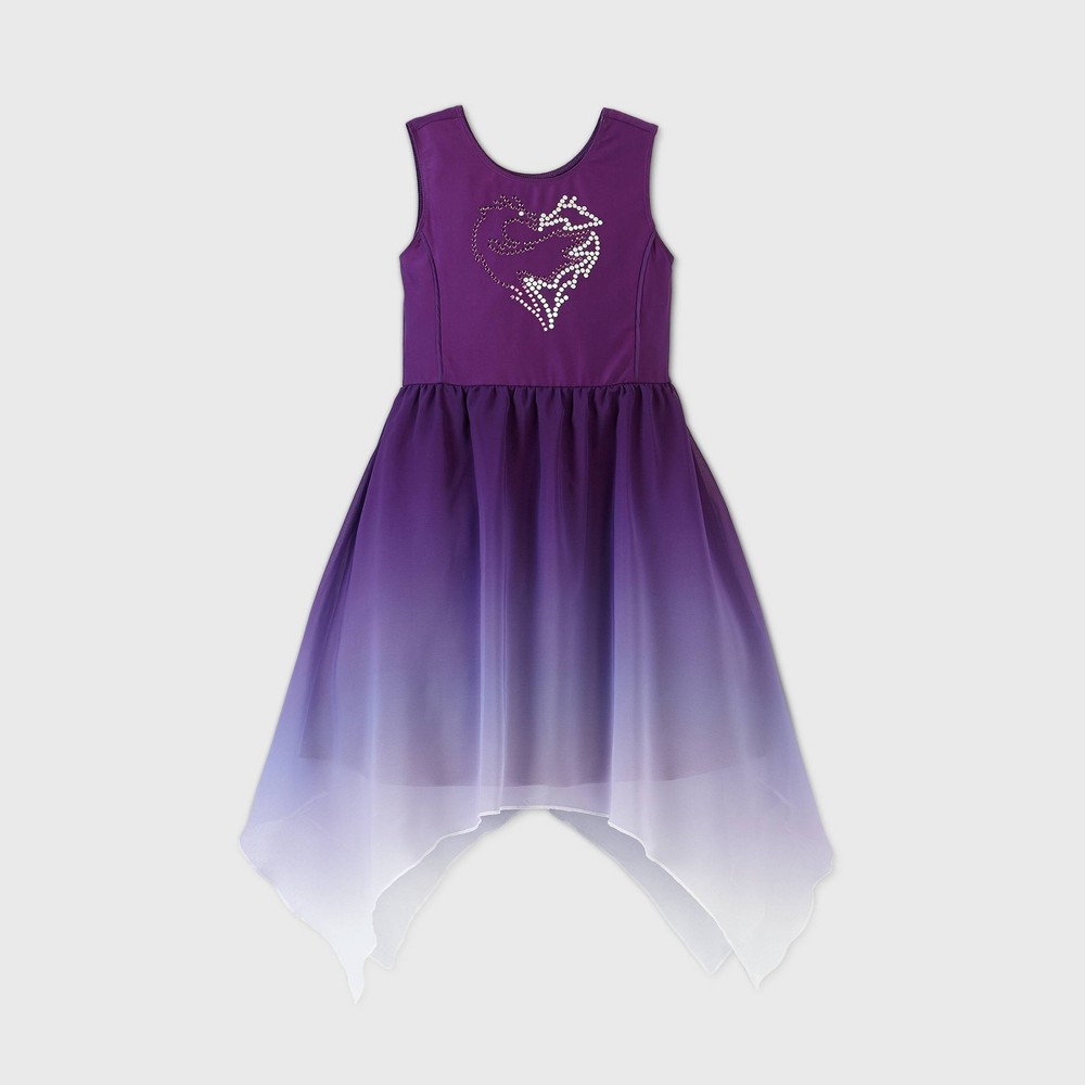 Cheap Girls' Disney Descendants Mal Wedding Dress -