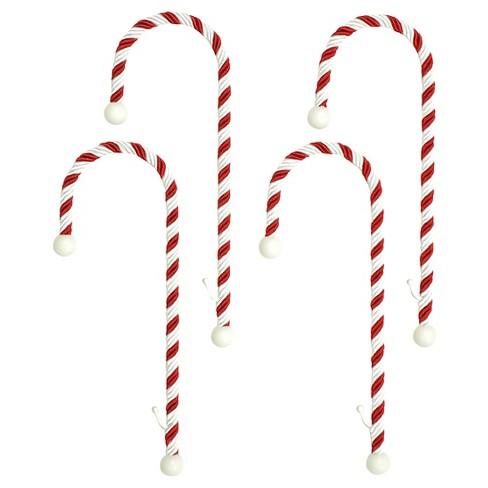 haute decor candy cane christmas stocking holders 4ct shop all haute decor - Candy Cane Christmas Shop