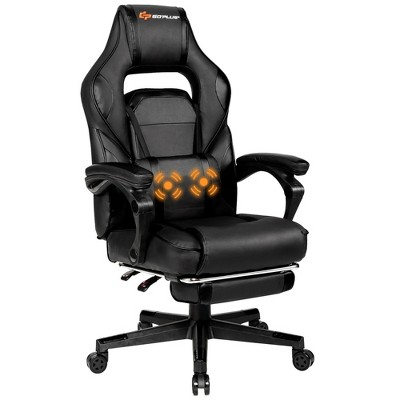 Goplus Massage Gaming Chair Reclining Racing Computer Office Chair with Footrest White\ Black\Blue\Red
