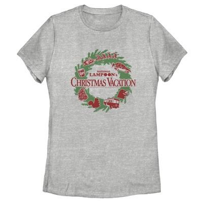 Women's National Lampoon's Christmas Vacation Wreath Logo T-Shirt