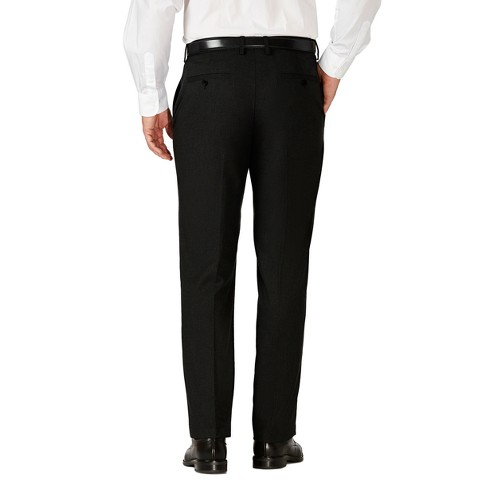 Haggar H26 Mens Tailored Fit Premium Stretch Suit Pants Black