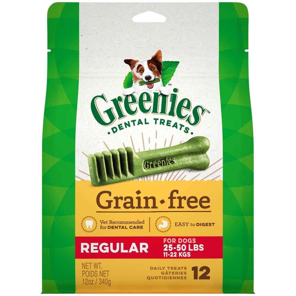 Greenies Regular Grain-Free Dental Dog Treats - 12ct/12oz