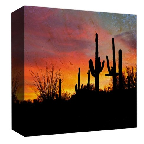"Desert Sunset Decorative Canvas Wall Art 16""x16"" - PTM Images - image 1 of 1"