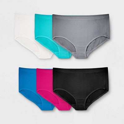 Fit for Me by Fruit of the Loom Women's Plus 6pk Breathable Micromesh Classic Briefs - Colors May Vary