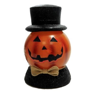 "Stony Creek 7.5"" Halloween Pre-Lit Ball W/Base Jack-O-Lantern  -  Novelty Sculpture Lights"