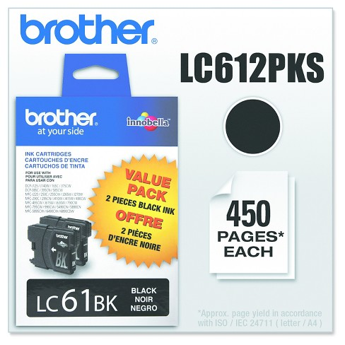 Brother LC61 Single & 3pk Ink Cartridges - Black, Cyan, Magenta, Yellow - image 1 of 3