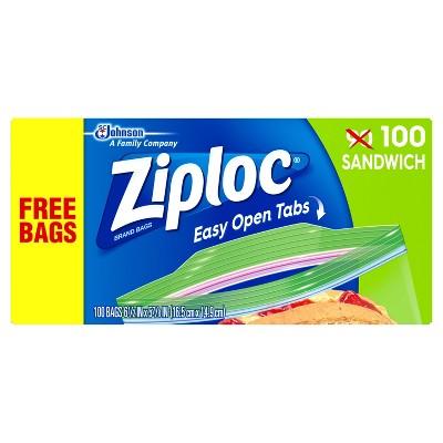 Ziploc Easy Open Sandwich Bags - 100ct