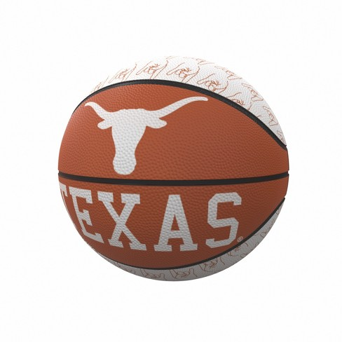 NCAA Texas Longhorns Repeating Logo Mini-Size Rubber Basketball - image 1 of 1