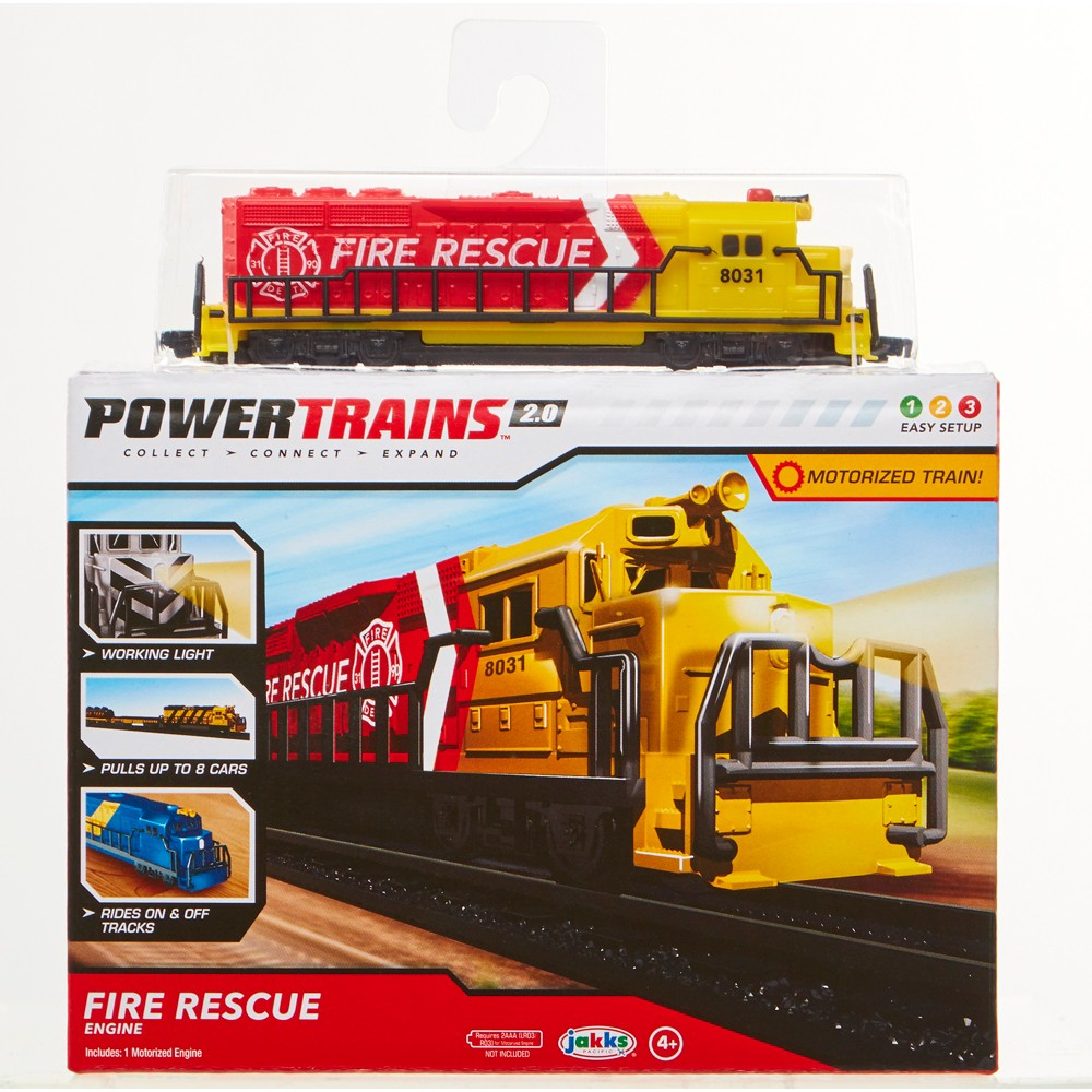 Power Trains Fire Rescue Engine Pack with Working Light