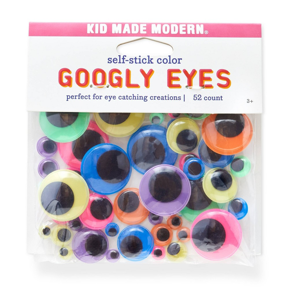 Kid Made Modern 52ct Self-Stick Googly Eyes, Multi-Colored