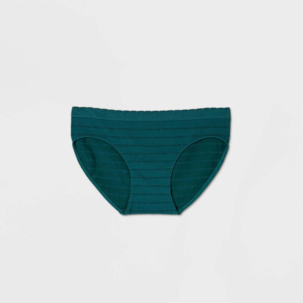 Women 39 S Striped Seamless Bikini Underwear Auden 8482 Teal S