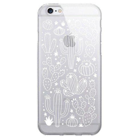 Iphone 76s6 Otm Prints Clear Phone Case Desert Cacti Outlined