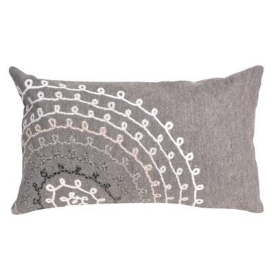 Gray Ombre Threads Throw Pillow (12 x20 )- Liora Manne